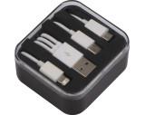 Kunststoffbox mit 3in1 USB-Ladekabel
